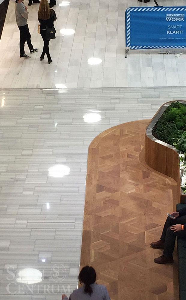 Marmorgolv i Mall of Scandinavia