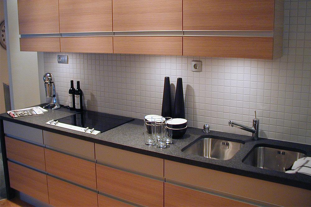 Köksbänkar i svart granit i Turning Torso