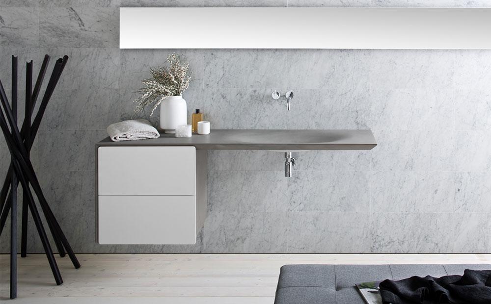 Stenvask och marmorvägg från Neutra Design